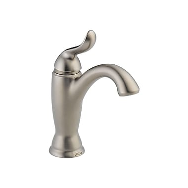 Delta Linden Standard Bathroom Faucet Lever Handle w/ Drain Assembly; Brilliance Stainless