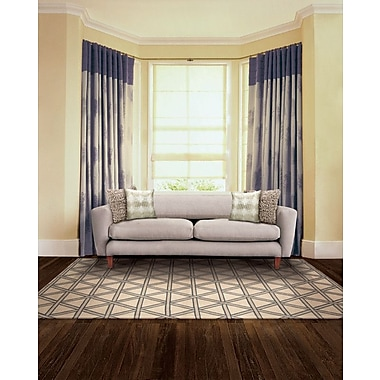 Kathy Ireland Home Gallery Hollywood Shimmer Metro Crossing Gray/Tan Area Rug; 3'9'' x 5'9''