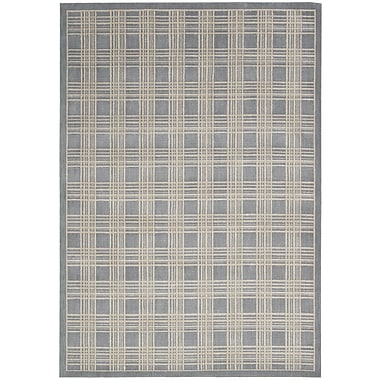 Kathy Ireland Home Gallery Hollywood Shimmer Mission Craft Gray/Ivory Area Rug; 3'9'' x 5'9''