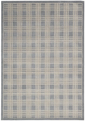 Kathy Ireland Home Gallery Hollywood Shimmer Mission Craft Gray/Ivory Area Rug