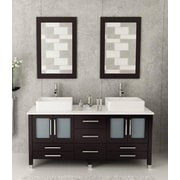 Kokols 72'' Double Bathroom Vanity Set w/ Mirror