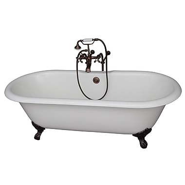 Barclay 67'' x 23.25'' Soaking Bathtub Kit; Oil Rubbed Bronze