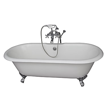 Barclay 67'' x 23.25'' Soaking Bathtub Kit; Chrome