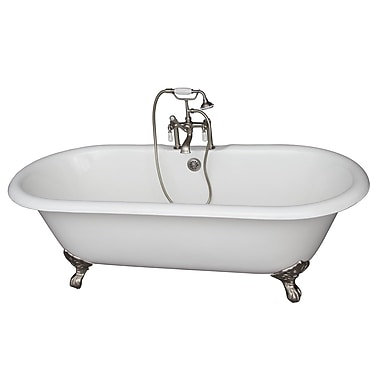 Barclay 67'' x 31'' Soaking Bathtub Kit; Brushed Nickel