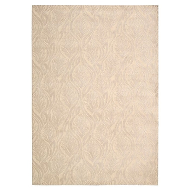 Kathy Ireland Home Gallery Hollywood Shimmer Beige Area Rug; 3'9'' x 5'9''