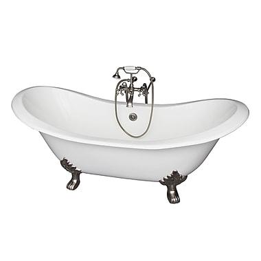 Barclay 71'' x 30.5'' Soaking Bathtub Kit; Brushed Nickel
