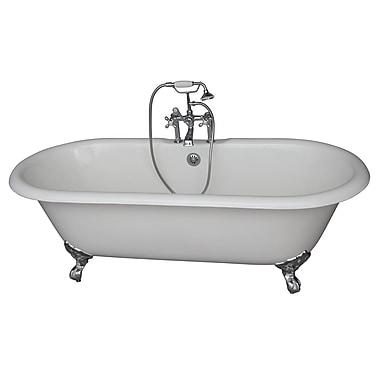 Barclay 60.75'' x 31'' Soaking Bathtub Kit; Chrome
