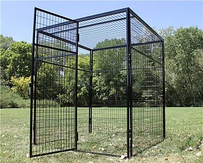 K9 Kennel Animal Enclosure w/ Welded Wire Top
