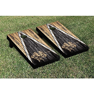 Victory Tailgate NCAA Weathered Triangle Version Cornhole Game Set; College Vault Army Black Knights