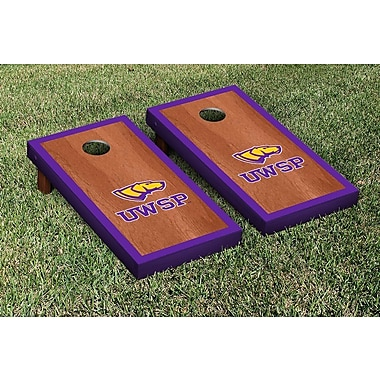 Victory Tailgate NCAA Rosewood Border Version Cornhole Game Set; Wisconsin Stevens Point Pointers