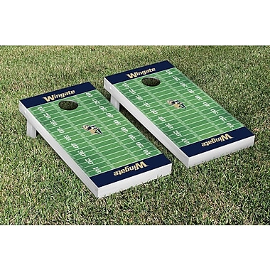 Victory Tailgate NCAA Football Field Version Cornhole Game Set; Wingate Bulldogs