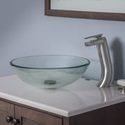 Novatto Bonificare Glass Circular Vessel Bathroom Sink