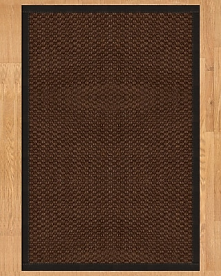 Natural Area Rugs Triton Hand Crafted Black Area Rug; Rectangle 4' x 6'