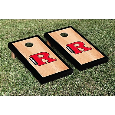 Victory Tailgate NCAA Hardcourt Border Version Cornhole Game Set; Rutgers Newark Scarlet Raiders
