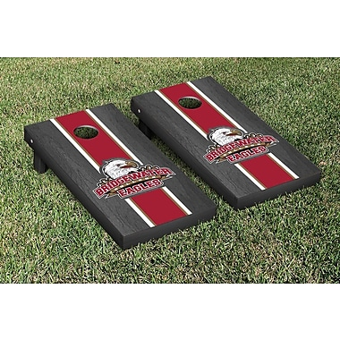 Victory Tailgate NCAA Onyx Stained Stripe Version Cornhole Bag Toss Game Set; Bridgewater Eagles