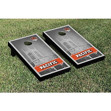 Victory Tailgate NCAA Retro Version Cornhole Game Set; College Vault Pacific Tigers
