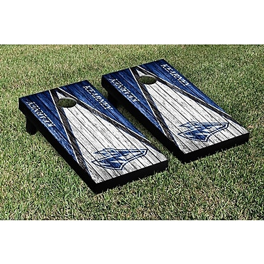 Victory Tailgate NCAA Weathered Triangle Version Cornhole Game Set; Nebraska Kearney Lopers