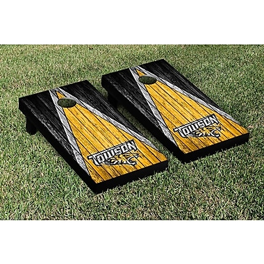 Victory Tailgate NCAA Weathered Triangle Version Cornhole Game Set; Towson University Tigers