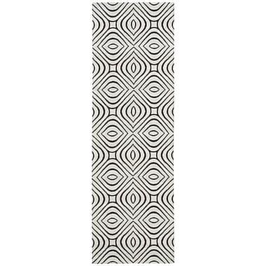 Nourison Enhance Gray Area Rug; Runner 2'6'' x 8'