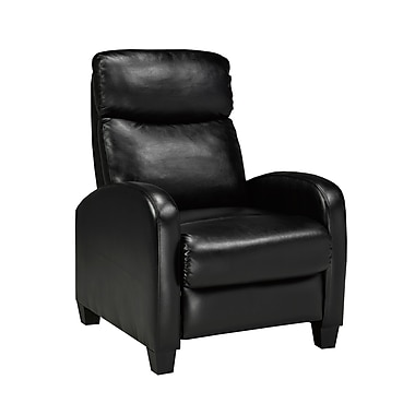 Brassex 8628 BLK Soho Push Back Recliner, Black