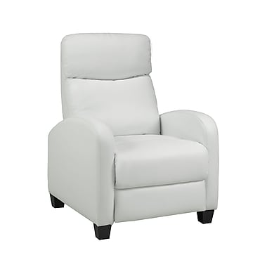 Brassex 8628 WH Soho Push Back Recliner, White