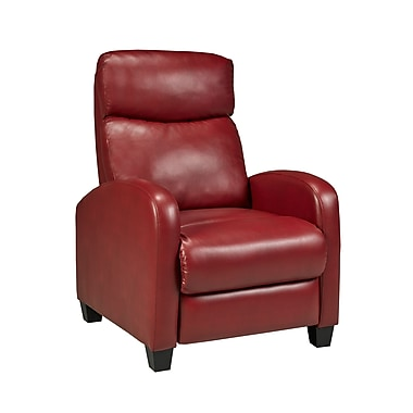 Brassex 8628 RED Soho Push Back Recliner, Red