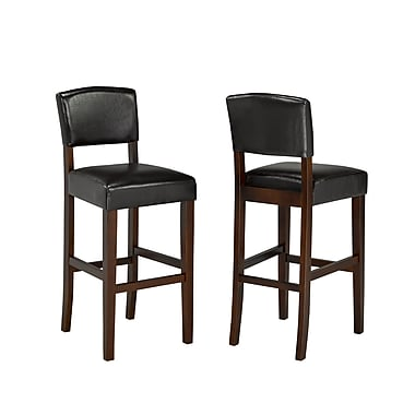 Brassex 5422-ESP 29' Bar Stool, Set of 2, Espresso