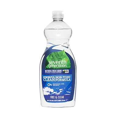 Seventh Generation Natural Dish Liquid Soap, Free and Clear, 25 Oz