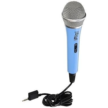 IK Multimedia – Microphone pour karaoké iRig Voice pour téléphones intelligents et tablettes, bleu (IPIRIGMICVOBIN)