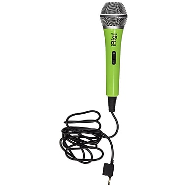 IK Multimedia iRig Voice Karaoke Microphone for Smartphones & Tablets, Green (IPIRIGMICVOGIN)