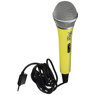 IK Multimedia iRig Voice Karaoke Microphone for Smartphones & Tablets, Yellow (IPIRIGMICVOYIN)