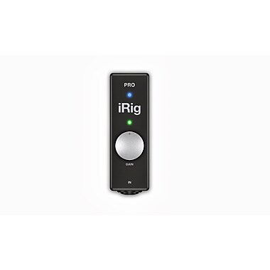 IK Multimedia iRig Pro Instrument/Microphone Interface with MIDI for iOS & Mac, (IPIRIGPROIN)