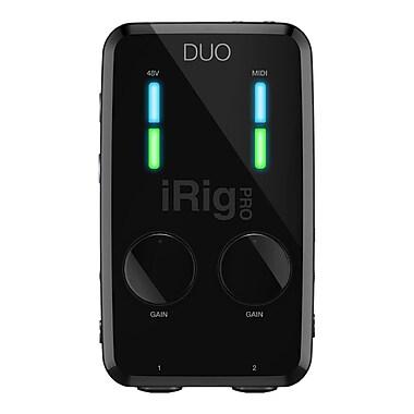 IK Multimedia iRig PRO DUO 2 Channel Professional Audio Interface for iPhone, iPad & Mac/PC, (IPIRIGPRODUOIN)