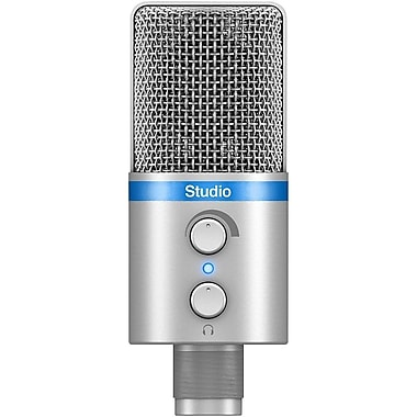IK Multimedia iRig Mic Studio Digital Studio Microphone for iPhone, iPad, Android & Mac/PC, Silver (IPIRIGMICSTDSIL)