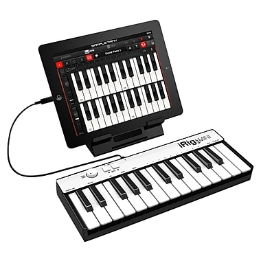 IK Multimedia iRig Keys MINI 25-Key Universal Keyboard Controller for iPhone, iPad, Android & Mac/PC, (IPIRIGKEYSMINII)
