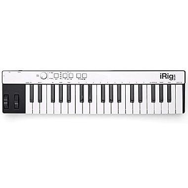 IK Multimedia – Contrôleur MIDI compact iRig Keys pour iPhone, iPad, Android et Mac/PC, (IPIRIGKEYSLGTIN)