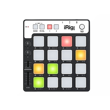 IK Multimedia iRig Pads MIDI Groove Controller for iPhone, iPad & Mac/PC, (IPIRIGPADSIN)