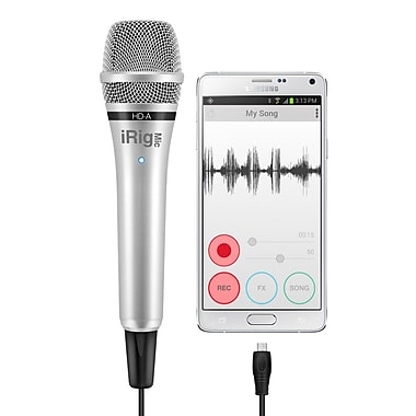 IK Multimedia – Microphone numérique portatif iRig Mic HD-A pour Android et PC (IPIRIGMICHDAIN)
