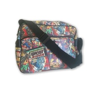 Marvel Comic Printed Black Messenger Bag (MV-B-MB)