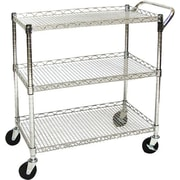 Seville Classics UltraZinc Shelf Commercial Utility Cart