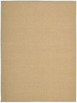 Calvin Klein Rugs Shetland Hand-Woven Basketweave Seagrass Area Rug; Rectangle 5'6'' x 7'5''