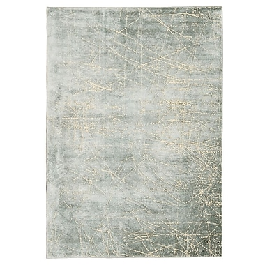 Calvin Klein Rugs Maya Etched Light Mercury Area Rug; Runner 2'3'' x 8'