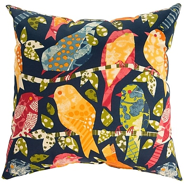 Swan Dye and Printing Ash Hill Throw Pillow; Dark Navy
