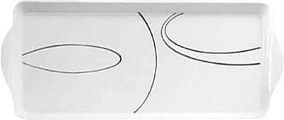 Corelle Simple Lines Melamine Tidbit Rectangle Serving Platter