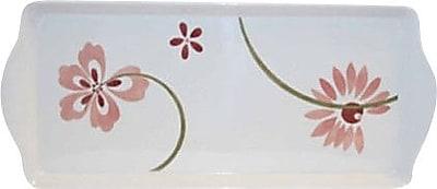 Corelle Square Pretty Pink Melamine Tidbit Rectangle Serving Platter