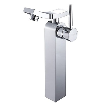 Kraus Unicus Single Hole Single Handle Bathroom Faucet w/ Drain Assembly; Without Pop Up Drain