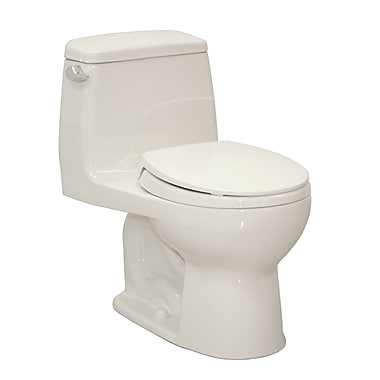 Toto UltraMax Eco 1.28 GPF Round One-Piece Toilet; Colonial White