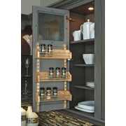 Rev-A-Shelf Adjustable Door Mount Spice Rack; 25'' H x 13.13'' W x 4'' D
