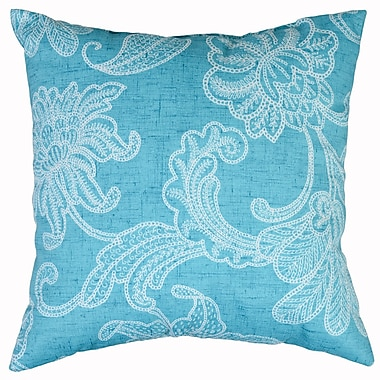 Swan Dye and Printing Ellie Throw Pillow; Ocean