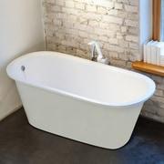 Aquatica Inflection 61.5'' x 29.5'' Soaking bathtub